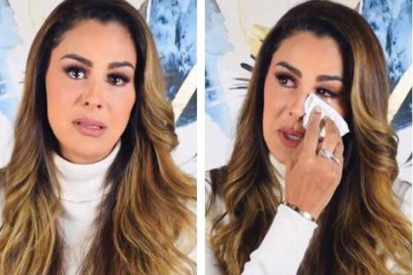 Ninel Conde rompe en llanto tras los ataques de Giovanni Medina (+VIDEO)