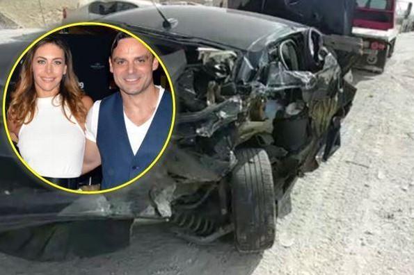 Uberto Bondoni, ex de Vanessa Guzmán, sufre grave accidente automovilístico (+FOTOS)