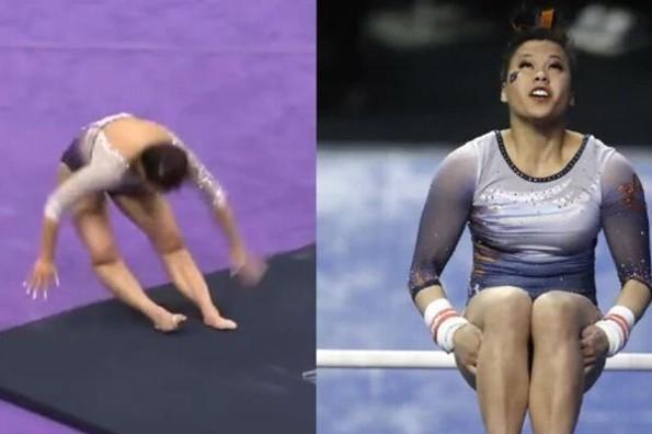 Joven gimnasta se rompe las dos piernas en su rutina #VIDEO