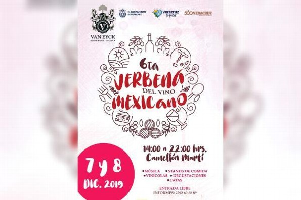 Anuncian Sexta Verbena del Vino Mexicano en Veracruz
