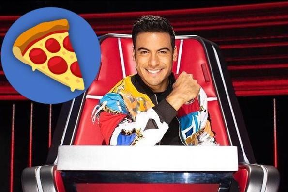 Carlos Rivera consiente a sus fans ¡con pizza!