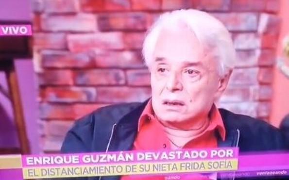 ¡Enrique Guzmán llora en programa de Tv por las acusaciones de su nieta Frida Sofia!