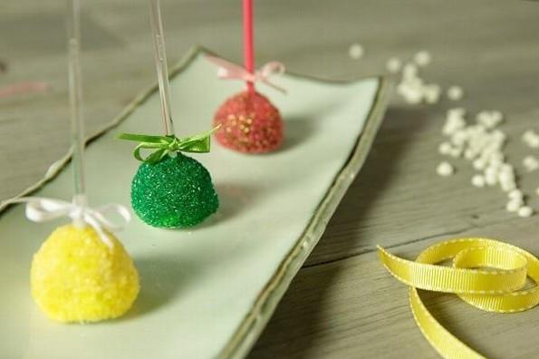 Receta de hoy: Mini manzanas cubiertas de chocolate y azúcar