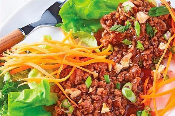 Receta de hoy: Tacos de lechuga romana con carne molida